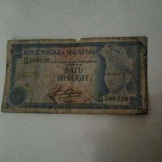 Duit $1 Satu Ringgit Lama Malaysia ( Boleh Nego)