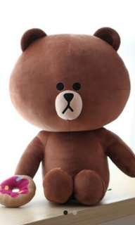 sale boneka big brown line original