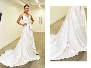 Kathryn's Pearl White Long Gown for RENT