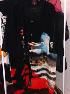 Tony Montana Scarface Suede Button Up