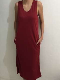 Identite red dress local brand