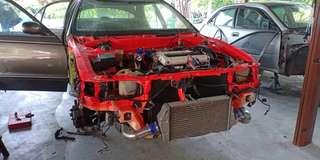 Mitsubishi RVR 4G63T manual gearbox EVO3 halfcut