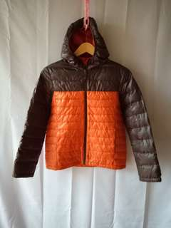 Uniqlo Ultra Light Down Hoodie Orange