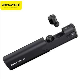 🚚 AWEI T8 Sport Wireless Bluetooth Headphones With Charging Dock Wireless Earbuds
