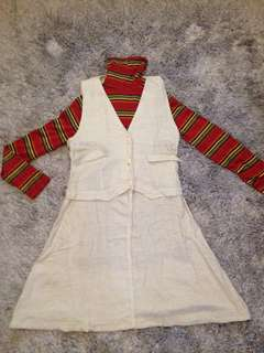 Korean Vest Dress