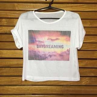 Daydreaming print Croptop