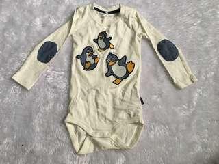 Penguin long sleeves romper