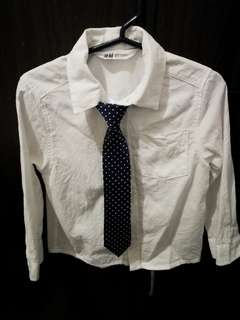 White long sleeve with tie