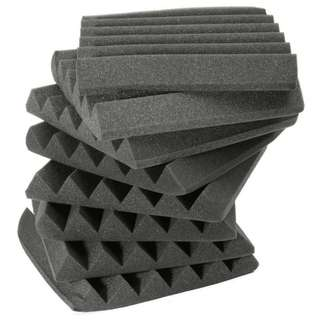 (Instock) 5cm Thick Wedge Acoustic Soundproof Absorption Foam (30×30×5)