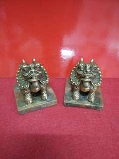招财之宝 1对 ( 貔貅 )H9.5×8.5cm Copper