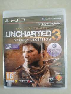 PS3 Games. Uncharted 3 Drake's Deception. NEW.