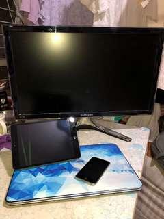 手提電腦+iPad mini+ iPod+電腦顯示屏