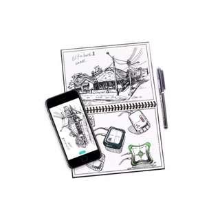 🚚 🔥FREE PEN  -Elfin Book Smart Reusable Notebook 2.0