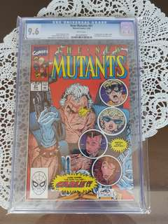 New Mutants 87 CGC 9.6 First Cable