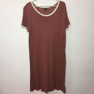 forever 21 (f21) maroon dress with white lining