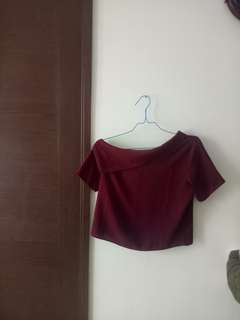 Woman red crop