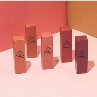 3CE Mood recipe lipstick (Authentic)