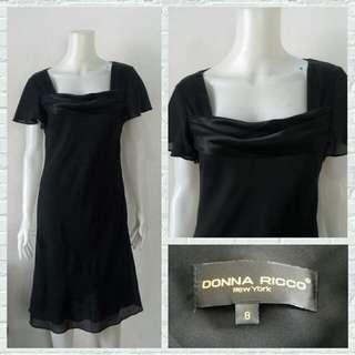 Designer Donna Ricco Black Office Dress