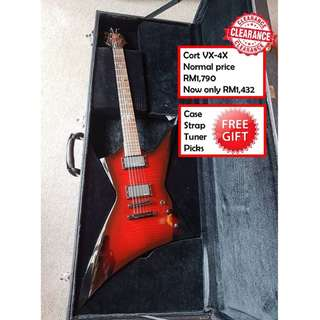 Cort VX-4X BCS black cherry Satin VX Series Electric Guitar