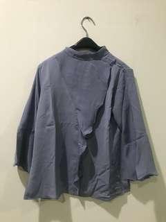 Long sleeves Top in Grey