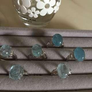 🎉天然海藍寶介指💍晶體通透,實物比圖片靚👍❤️