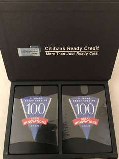 Under open 100 special edition Citibank game Card