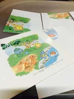比卡超 Pokémon 小火龍 奇異種子 車厘龜 超夢夢 日版 明信片 Postcard 一套 Full Set Made in Japan 絕版 多年歷史
