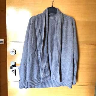 🚚 日系專櫃 MK(MICHEL KLEIN) 紫灰色金蔥 毛衣外套