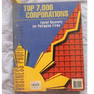 Top 7,000 Corporation and Next 5,000 Corporation (1998) 2 Books
