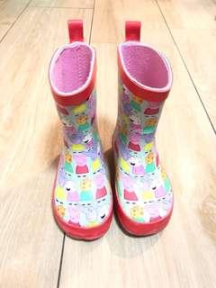 Peppa pig rain boots size UK 5