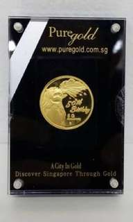 [Rare] SG50 Singapore 50th Anniversary Pure Gold Coin