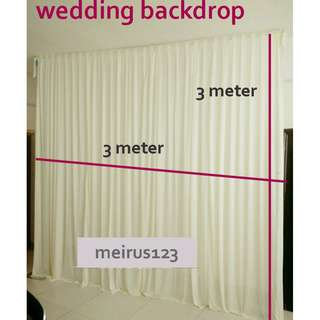 3m*3m Custom wedding veils, the background cloth mantle of posting at the end of wedding veils, stage curtain background hanging props