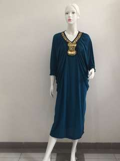 Kaftan Spandex Navy Gold all size