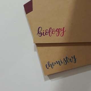 🎀 customised muji books !! (assorted)