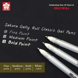 8% OFF Sakura Gelly Roll Classic Gel Pen - Fine/Medium/Bold Point - White