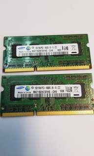 11. SAMSUNG Laptop RAM 1GBx2 DDR3