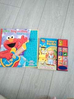Sesame Street elmo & bob builder scoop's big day