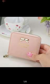 Fashion Butterfly Tie Zipper Korea Ladies Short Wallet (Ships in 7days)