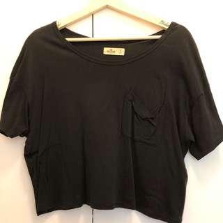 HOLLISTER Black Crop Shirt