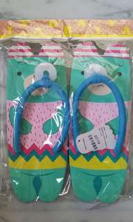 Children and adult slippers