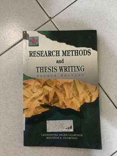 Research methods and thesis writing book