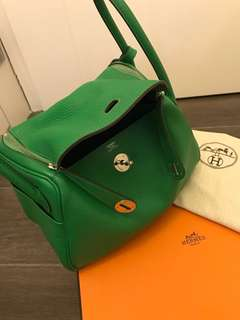 Hermes Lindy 26 bamboo green