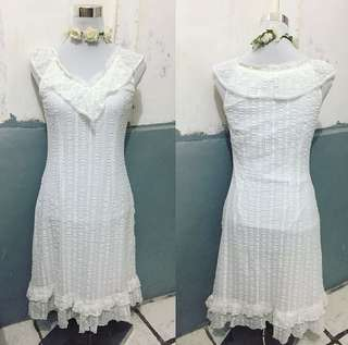White long dress (repriced)