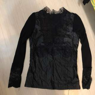 Black Lace detailed Top