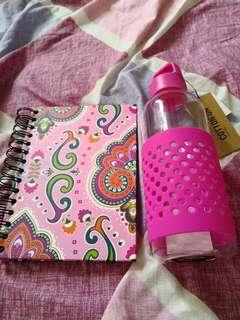 Sketchbook n Cotton on water bottle