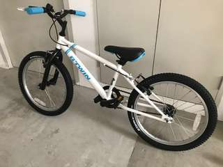 "B'TWIN RACING BOY 300 CHILDREN'S 20"" BIKE-WHITE"