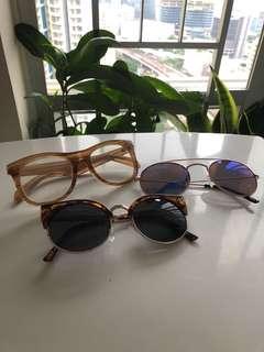 Glashes / monkyl/ uniqlo/ $40 all