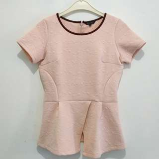 Pink Peplum Blouse by The Executive