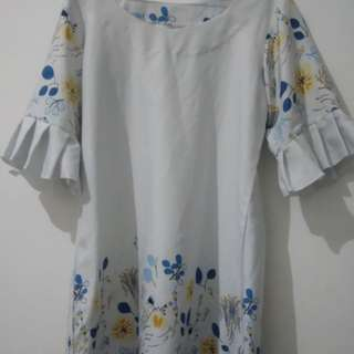 Dress Motif Bunga Size L to XL
