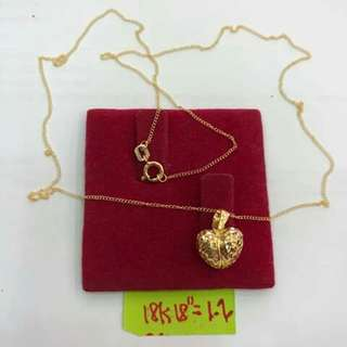 HEART NECKLACE 18K SAUDIGOLD